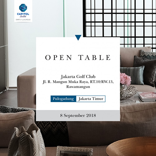 Open Table at Jakarta Golf Club