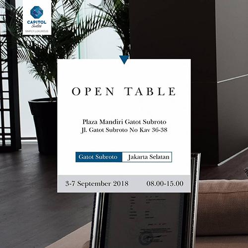 Open Table at Plaza Mandiri