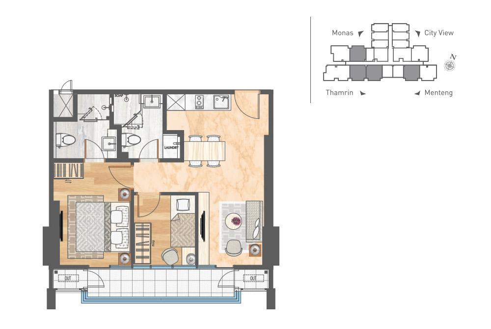 Luxury Apartemen Jakarta - 2 Bedroom