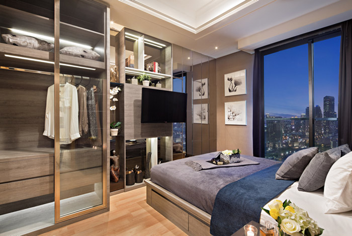 Kamar apartemen mewah di Menteng
