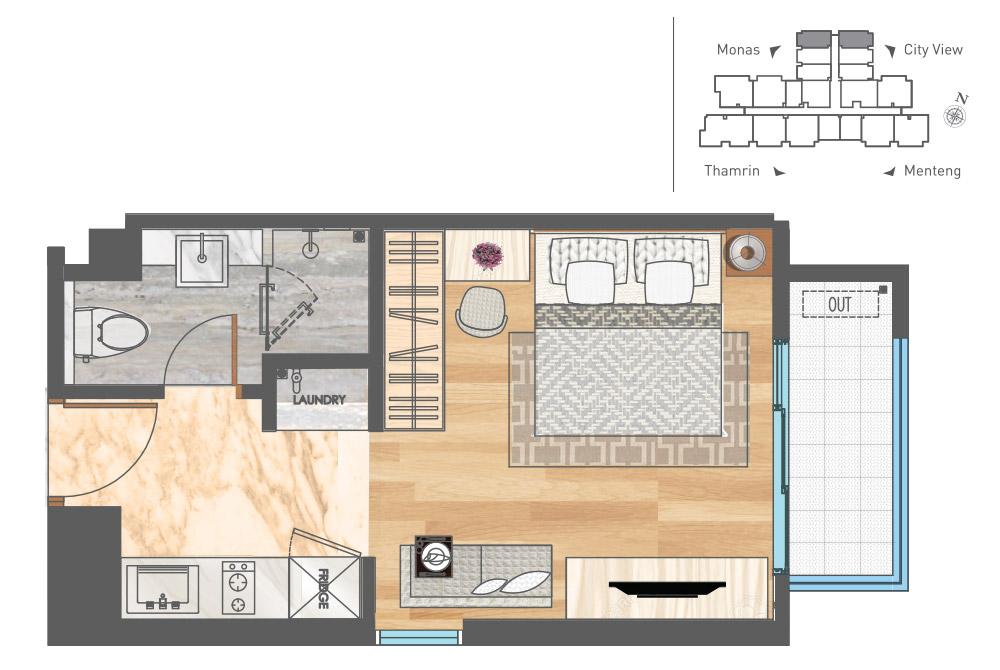 Luxury Apartemen Jakarta - Studio C